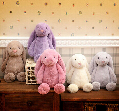 30CM Classic Bunny Rabbit Plush Doll With Long Ears Appease Rabbit Gift For Girl(China (Mainland))