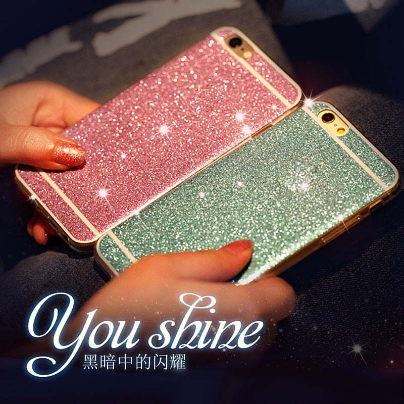 2016 Hot Sparkling Girl Case Bling Cover Back For Apple Fundas Iphone 5 5s 6 6s Plus Gel TPU Phone Cases Shinning Luxury Gift(China (Mainland))