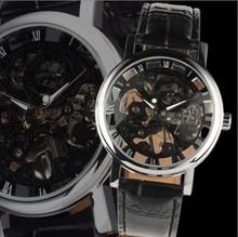 Winner negro matriz de corte manual mens de mesa para hombre reloj j216