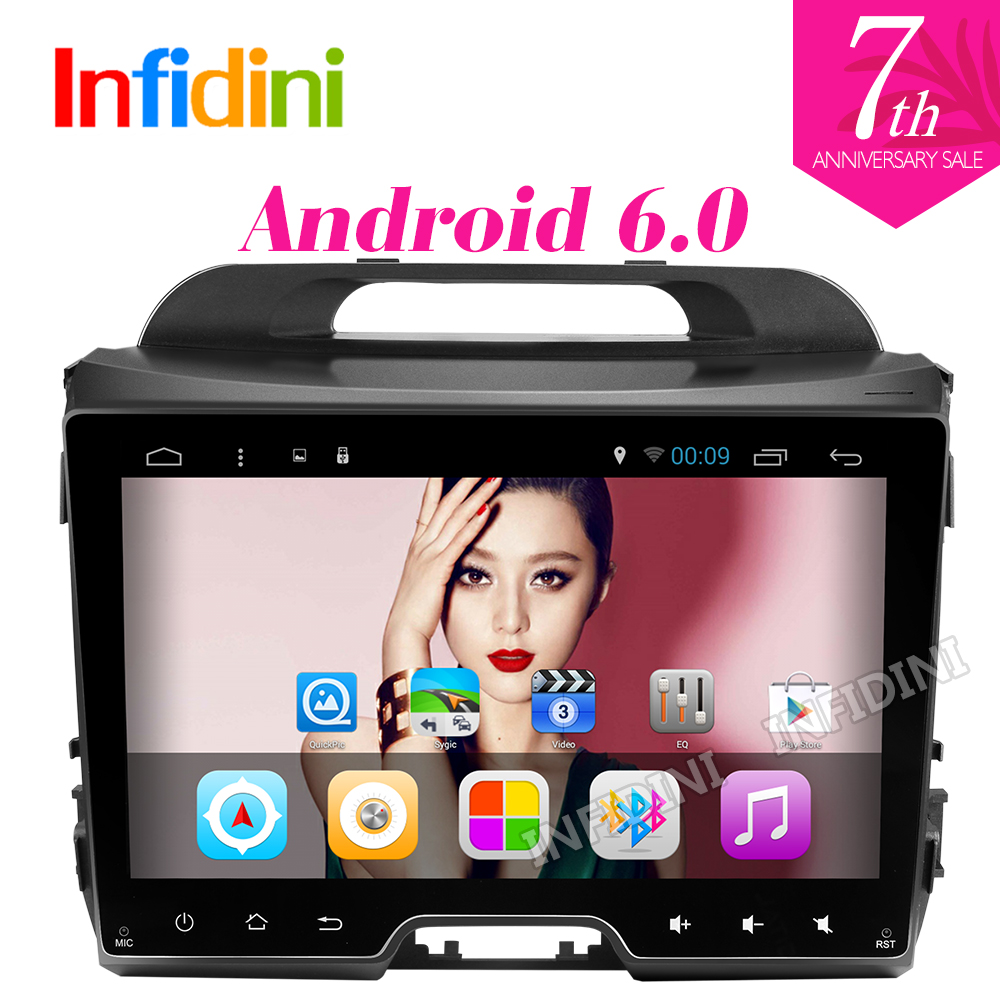 4G 1024*600 Android 6.0 car dvd player KIA sportage r 2011 2012 2013 2014 2015 car pc head unit gps navigation 2 din car stereo(China (Mainland))