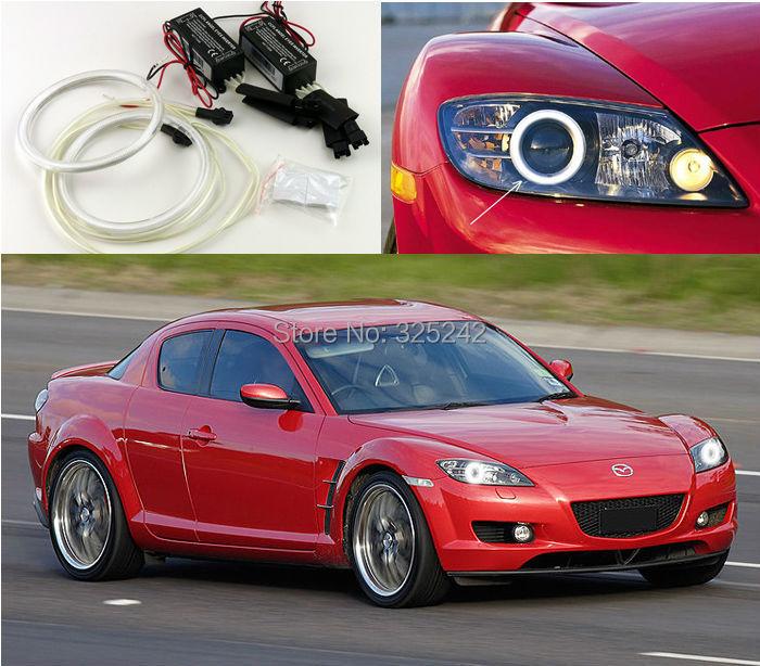 For Mazda RX8 RX-8 2004-2008 Excellent Quality CCFL Angel Eyes kit Ultrabright headlight illumination angel eyes kit Halo Ring(China (Mainland))