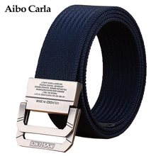 Buy Mens Luxury Brand Canvas Belt Casual Solid Belts Men Metal Smooth Buckle Men Military Nylon Tactical Belt Metal Tip 2017 New Top for $7.41 in AliExpress store