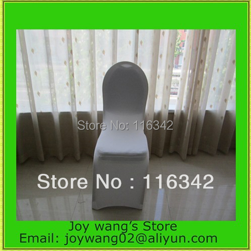 Discount Hot Sale 100pcs Universal White Spandex Chair Cover Wedding /Banquet Polyester Chair Covers with 4 Pockets Wholesale(China (Mainland))