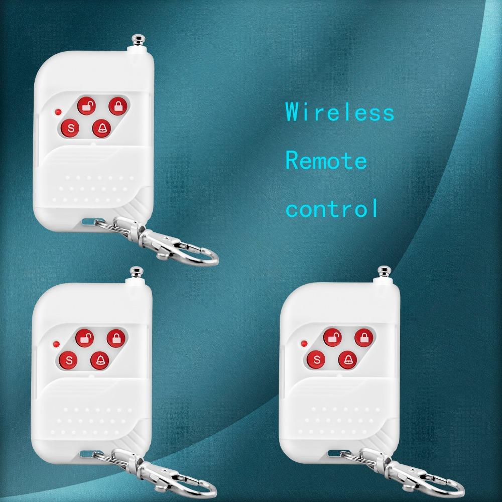 3pcs/lot New 433mhz Wireless keychain Remote Control Key Telecontrol for Home Secure Voice Burglar PSTN/GSM Alarm System<br><br>Aliexpress