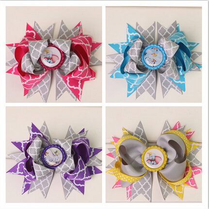 2015 new boutique kids big baby decorations for hair of grosgrain ribbon bows with clips for girls hairbows hairpins accessories(China (Mainland))