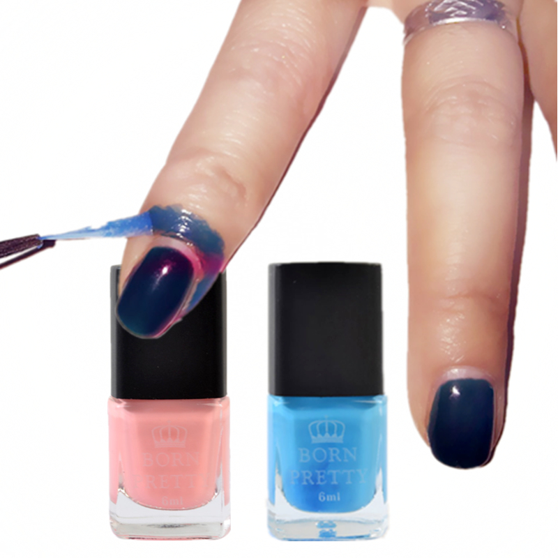 Best Nail Base Coat For Peeling Nails: 1 PC 6ml Blue Pink Born Pretty Liquid Tape & Peel Off Base