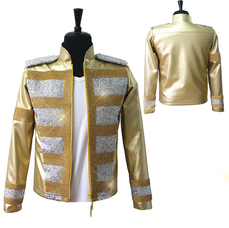 Rare MJ Michael Jackson Shocked New Fashion 3D Holographic Slave To The Rhythm LIVE Billboard Music Awards Crystal Golden JacketОдежда и ак�е��уары<br><br><br>Aliexpress