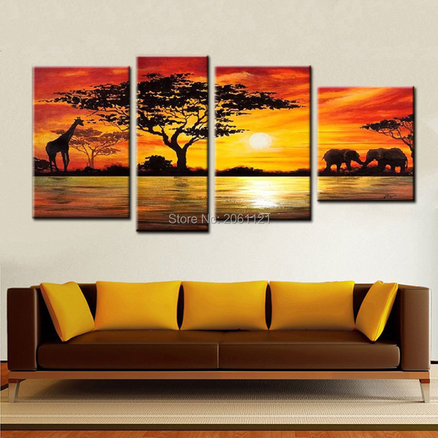 African landscape paintings reviews online shopping for African mural painting