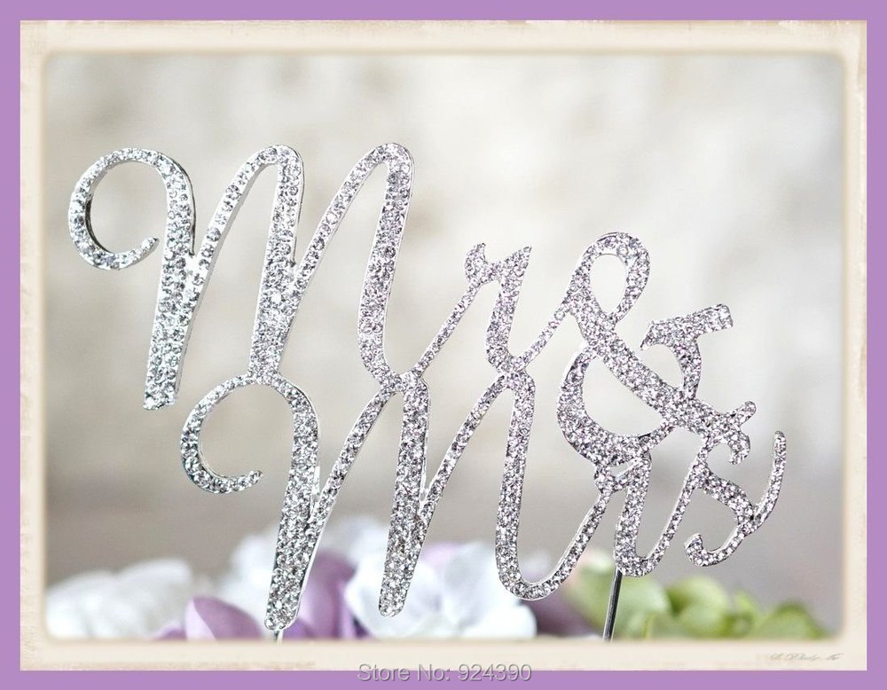 Creative TA022 Crystal Rhinestone Cake Topper Wedding ...