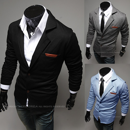 Fashion lapel leather label small knitted mens suitsОдежда и ак�е��уары<br><br><br>Aliexpress