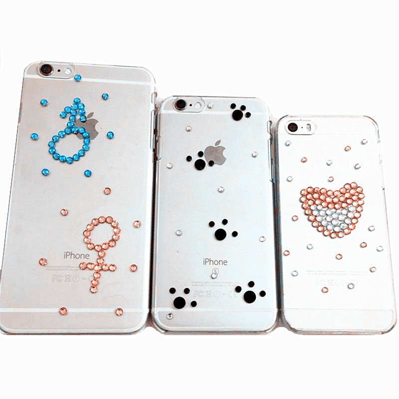new faddish 3d bling diamond diy Rinestones cell phone bag case cover pouch decoration for IPONE 4 4S 5 5s SE 6 6s plus(China (Mainland))
