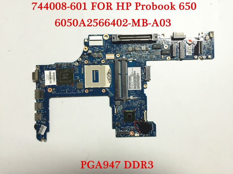 Original laptop motherboard for HP Probook 640 650 G1 744008-601 6050A2566402-MB-A03 HM87 PGA947 DDR3 Fully tested(China (Mainland))