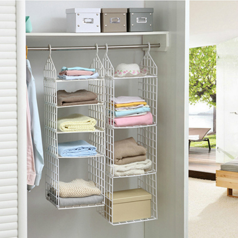 Hanging Closet Organizer Ideas   2016 Wall Shelf Prateleira 4 Size Style Hang  Clothes