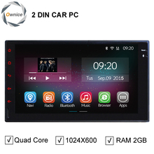 HD 7 Inch 1024x600 2GB/16GB Qual Core Android 4.4.2 Universal 2 Din Car PC Auto DVD Player With GPS Radio WiFi 3G Free Map(China (Mainland))