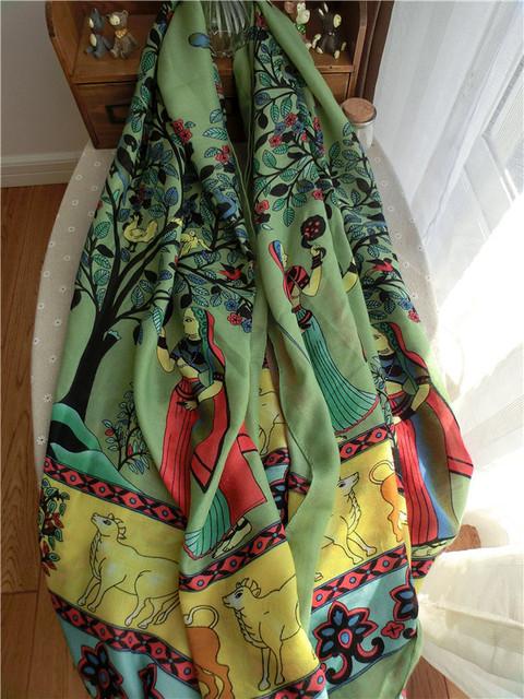 2016 новый ретро чешский национальный стиль перл кисти хлопок негабаритных шарф прекрасная дама шарф платок