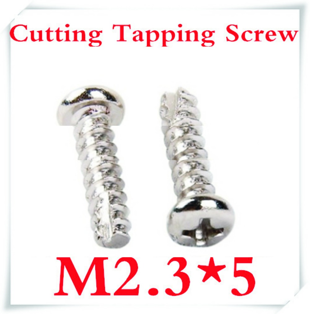 1000pcs/lot M2.3 x 5 M2.3 Scrape Point Cross Recessed Pan Head Cutting Tapping Screws<br><br>Aliexpress