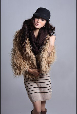 Spring autumn winter fashion 2011 new short-sleeve wild grass solid leather jacket Fur jacket