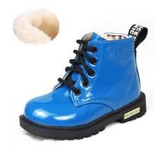 2019 Best verkopende Kinderen huid schoenen PU waterdicht Jongens en meisjes leren schoenen outdoor kids sneakers Baby Kind Sneeuw laarzen(China)