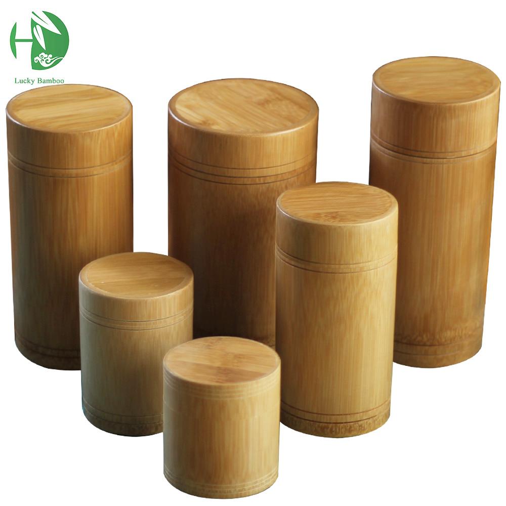 vintage tea box bamboo Storage box tea canister Lid seal Kitchen candy coffee spice box jar case handmade organizer wholesale(China (Mainland))