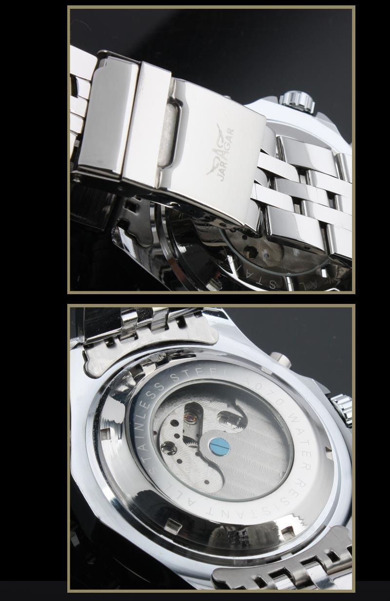 Reloj Hombre JARAGAR Мода Часы Мужские День Маховик Авто Механические Стелл Наручные Часы Коробка Подарка Xmas Подарков Свободный Корабль