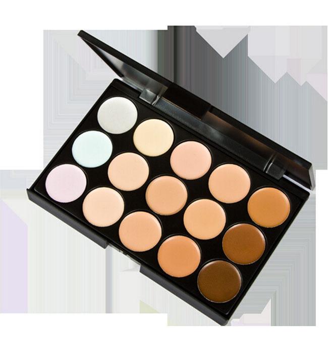 New 15 Colors Professional Salon Party Concealer Contour Face Cream Makeup Palette Y641-B(China (Mainland))