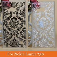 pattern Colorful Cute printing vintage flowers design hard cell Phone Case Cover For Nokia Lumia 730 735 back Cases Covers