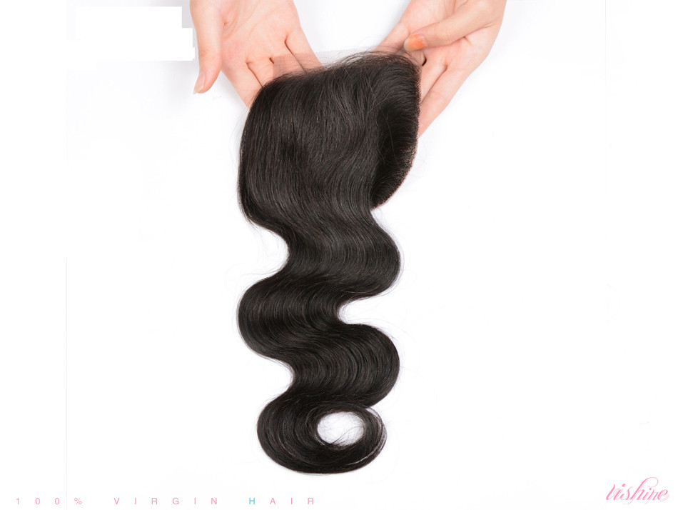 Brazilian Body Wave Lace Closure Body Wave 7A Brazilian Virgin Hair 3Part/Middle/Free Part Human Hair Fast Shipping Closure