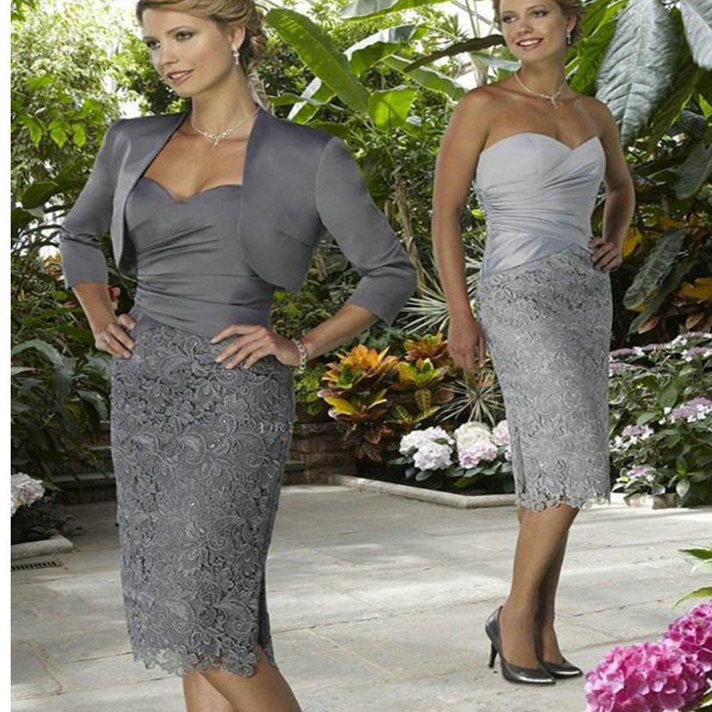 Online Get Cheap Grey Mother of The Bride Satin Dresses ...