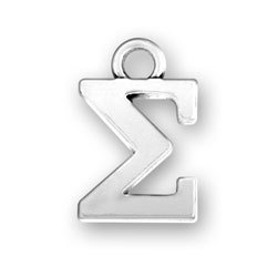 Free Shipping Antique Silver Series Greek Alphabet Sigma Charms DIY Letter Charms<br><br>Aliexpress
