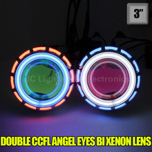 Buy Air aluminum H1 H7 HB3 HB4 9005 9006 8000K 6000K 4300K bulb 3 inch Bi Xenon Lens Projector CCFL Double Angel Eyes 35W headligh for $59.15 in AliExpress store