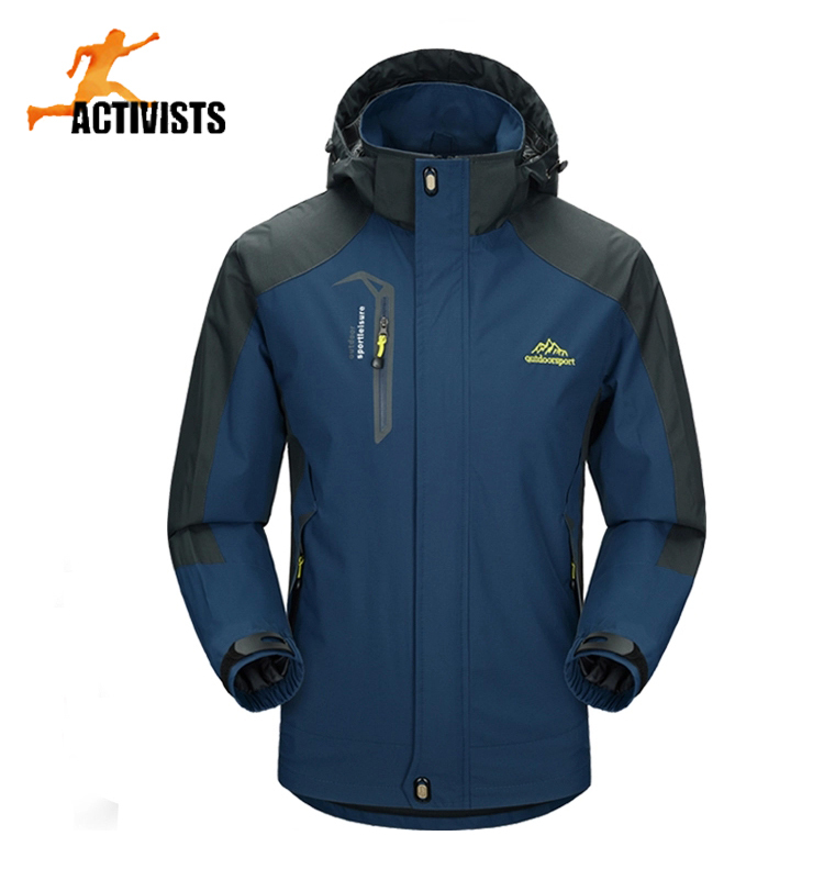 Size:L-5XL Autumn New Single Layer Long Sleeve WaterProof Jacket Climbing Hiking Jacket Outdoor Travel Sport Wind Jackets