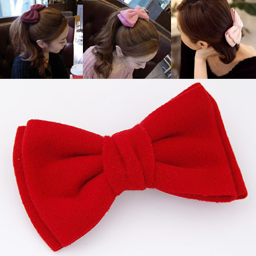 Korean Fashion All Match Big Butterfly Bow Hair Clip Women Hairgrips Jewelry(China (Mainland))