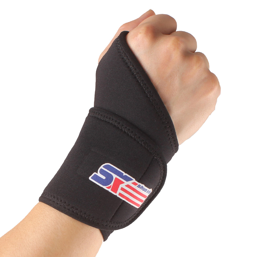 2 PCS Adjustable Sports Thumb Loop Wristband Wrist Support Breathable Gym Elastic Stretchy Wrist Joint Brace Bandage Protector(China (Mainland))