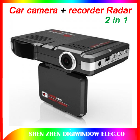 New Car camera video+recorder Radar Laser speed Detector recorder Universal 2in1 car DVR+RD (English+Russian broadcast )(China (Mainland))