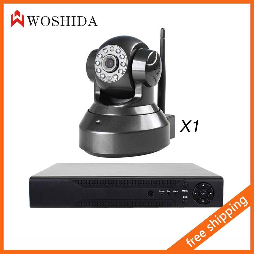 Система видеонаблюдения Surveillanc 1CH + 1.0mp 720P HD IP WIFI Woshida WT7866WIP-H-1 система видеонаблюдения anran 1080p ip wifi 3 10 36ir 8 h 264 nvr cctv 2 hdd ar 4ch36169 wifi