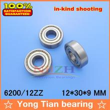 High Quality Non-standard ball bearing 6200/12ZZ 12*30*9 mm