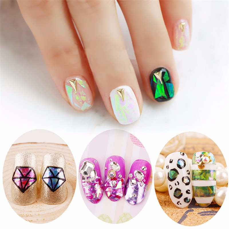Perfect Summer 6pcs Shell Polish Sticker Transfer Foil Paper For DIY Nails Decoration Beauty Tools Nail Art Decal(China (Mainland))