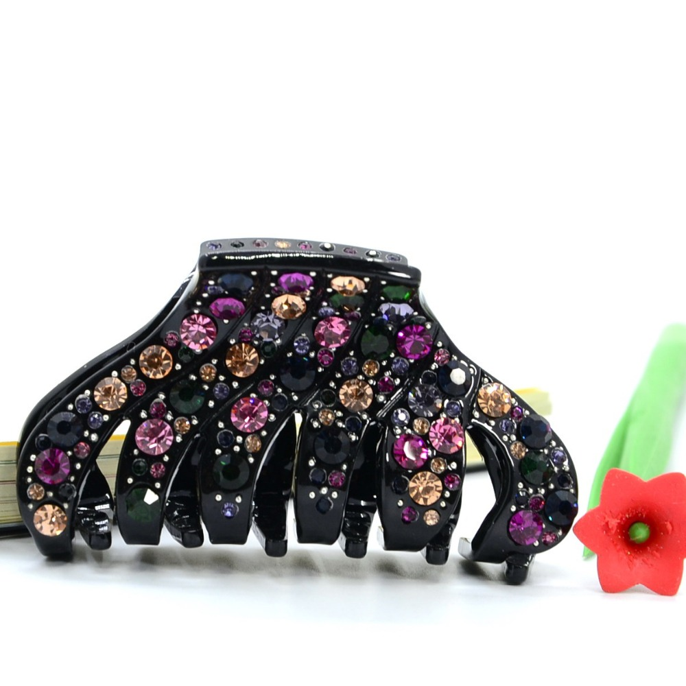 8.5cm New Design Fashion Austria Crystal Rhinestone Hair Claw Clips Headwear Accessories For Women Girl Jewelry Free Shipping(China (Mainland))