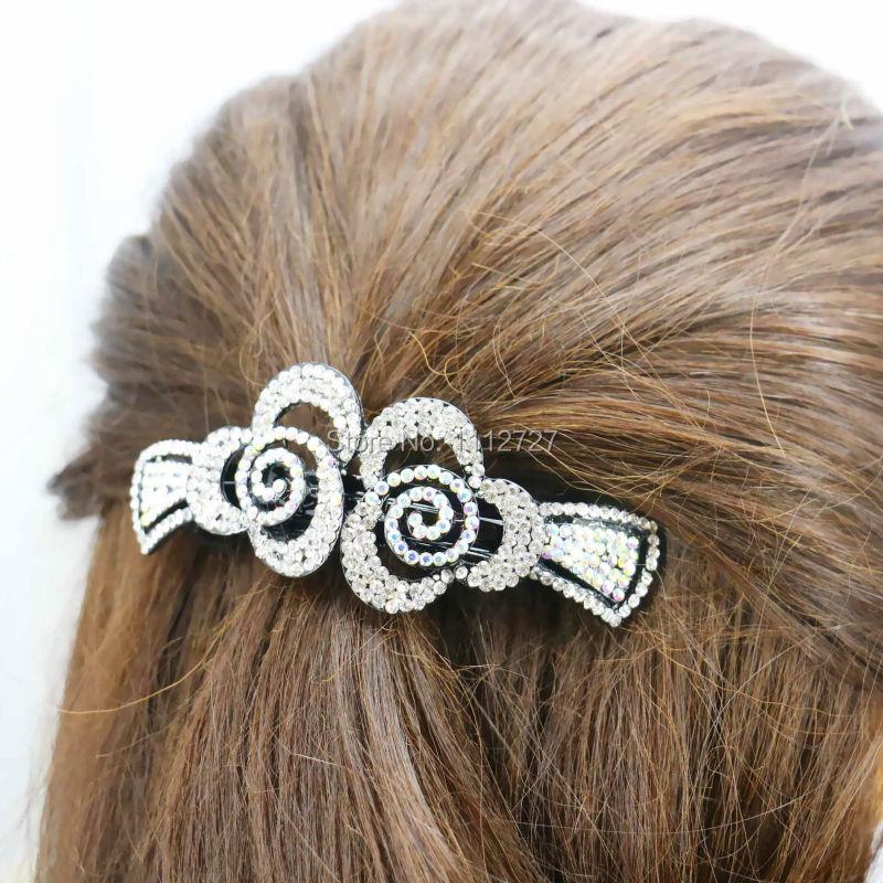 34*93mm Bridal Wedding Headdress Headband Flowers Rhinestone Headpiece Head Bands For women Girls Bows Bowknot(China (Mainland))