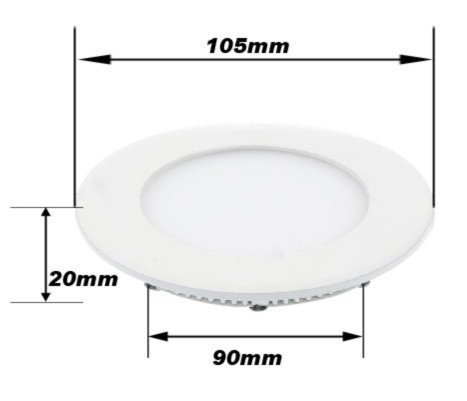 Promotion Real Wholesales 6500k 3014 Smd Led Cool White Round Recessed Ceiling Panel Flat Downlights Bulb 480lm + Driver(China (Mainland))