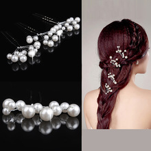 3 pcs Fashion Pearl Hair jewelry Korean sweet tassel pearls hairpin Imperial queen tiaras crown bridal wedding hair accessories(China (Mainland))