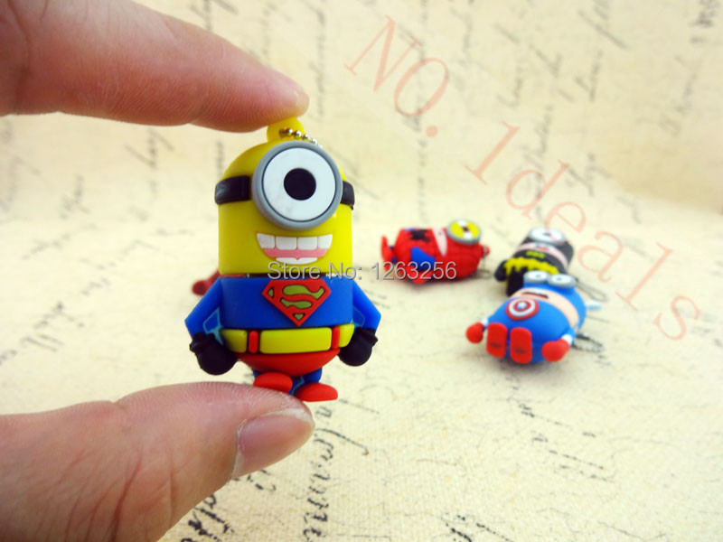 Pen drive cartoon super heros minions usb 2 0 flash memory stick pendrive 4GB 8GB 16GB