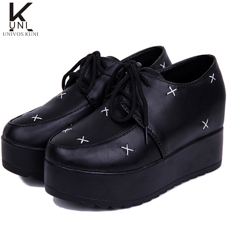 2015 new brand creepers platform shoes shoes womens