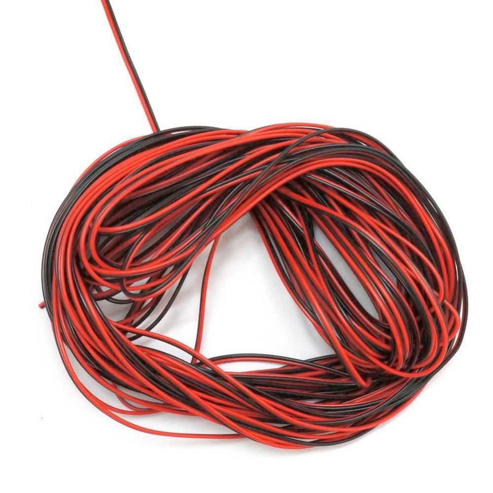 RGBZONE 10M 2 PIN Extension Cable Line For SMD 3528 5050 Single Color LED Strip Light(China (Mainland))
