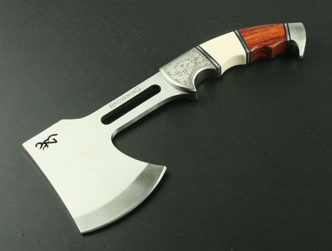 Free shipping Browning outer door survival camping axe hot sell stainless steel life saving axe(China (Mainland))