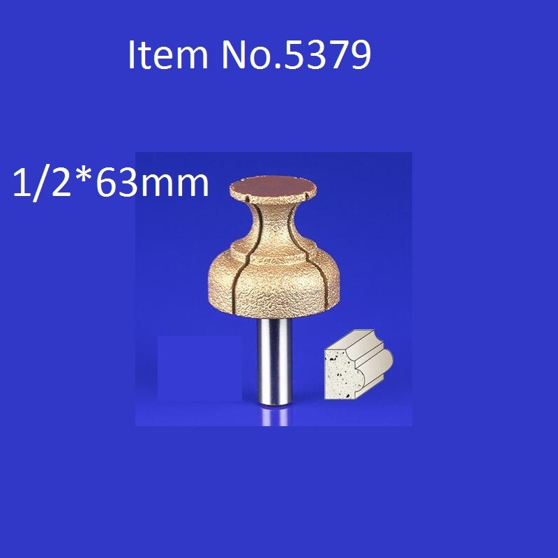 Buy 1PC 1/2*63mm CNC Engraving Bits Diamond Sand Diamond End Milling Cutter On Cutting Trimming Knife Bevel Heads  Free Shipping cheap