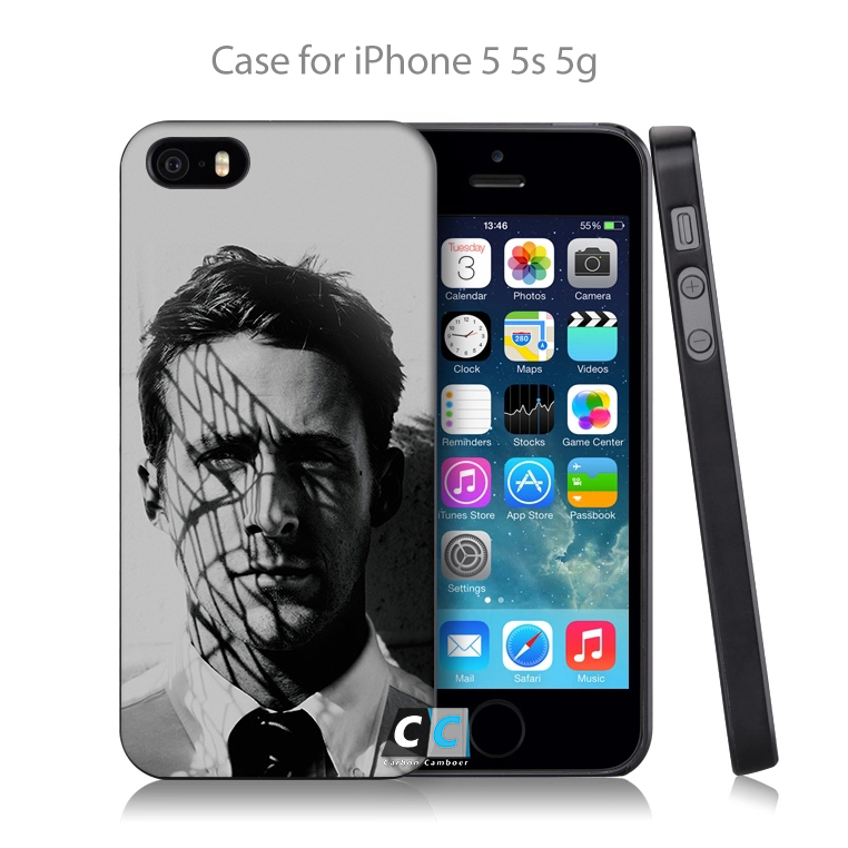 ha81 ryan gosling actor face Hard Black Case Cover Shell Coque for iPhone 4 4s 4g 5 5s 5g 5c 6 6g 6 Plus(China (Mainland))