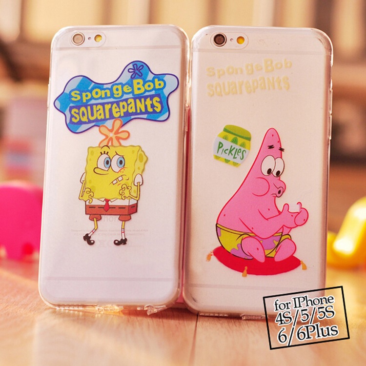 SpongeBob Patrick Star Case For Coque iPhone 4 Case Clear Ultra Thin Carcasa TPU Silicone Funda For Capa Para iPhone 4s Cases(China (Mainland))