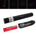 2 in 1 Adjustable Focus 200mw 532nm High Power Green 303 Laser Pointer Pen with 18650