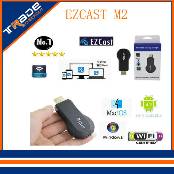 EzCast M2 Miracast DLNA Airplay Receiver Dongle Windows iOS Andriod Better Android TV Box Chromecast - Tradecheckout store